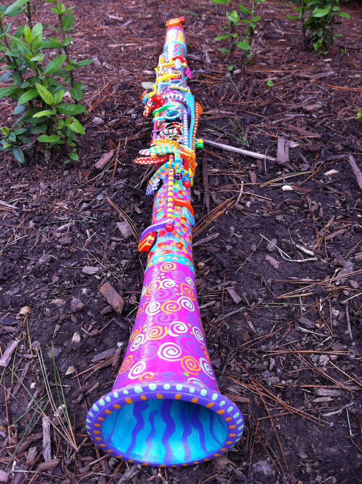 Painted Clarinet.  I don't think I am brave enough to do this to mine...