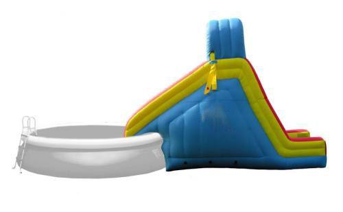 Piscine et toboggan gonflable piscine plage mer for Toboggan piscine hors sol
