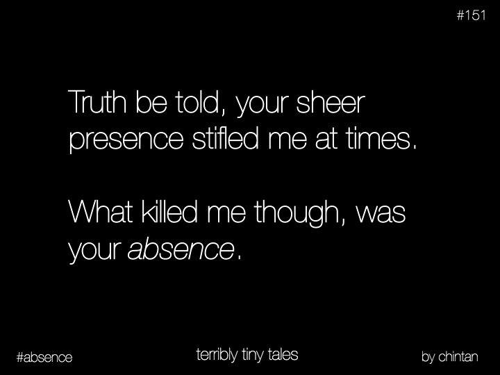 #terriblytinytales #black #absence