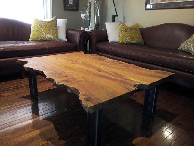 Solid Wood SALVAGED and RECLAIMED raw edge TABLES by URBAN TREE SALVAGE.  Specializing in custom - 100 Best Images About Salvaged And Reclaimed : COFFEE & END TABLES