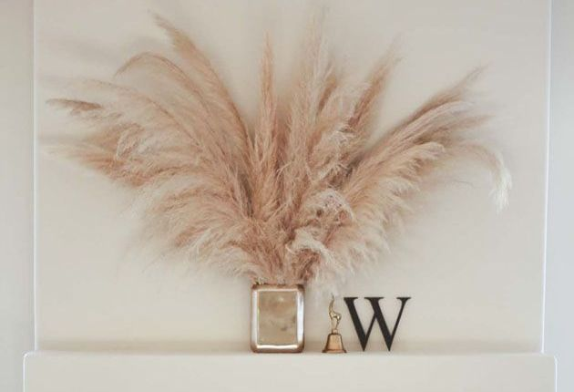 Just pampas grass. Very chic.