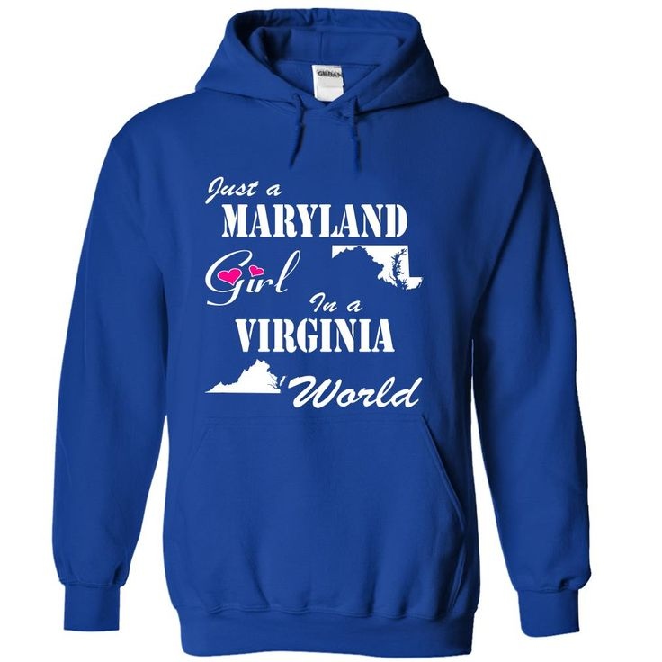 Maryland Girl in a Virginia World T-Shirts, Hoodies. Check Price Now ==>…