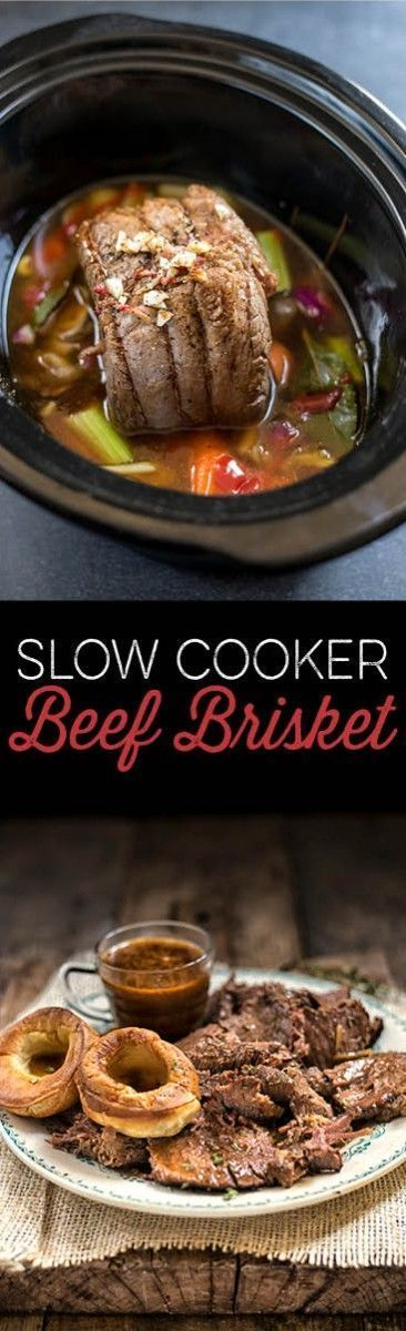 Slow cooker beef brisket - easy to prepare and the perfect family meal.