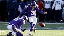 First-graders learning about empathy console Minnesota Vikings kicker after missed field goal