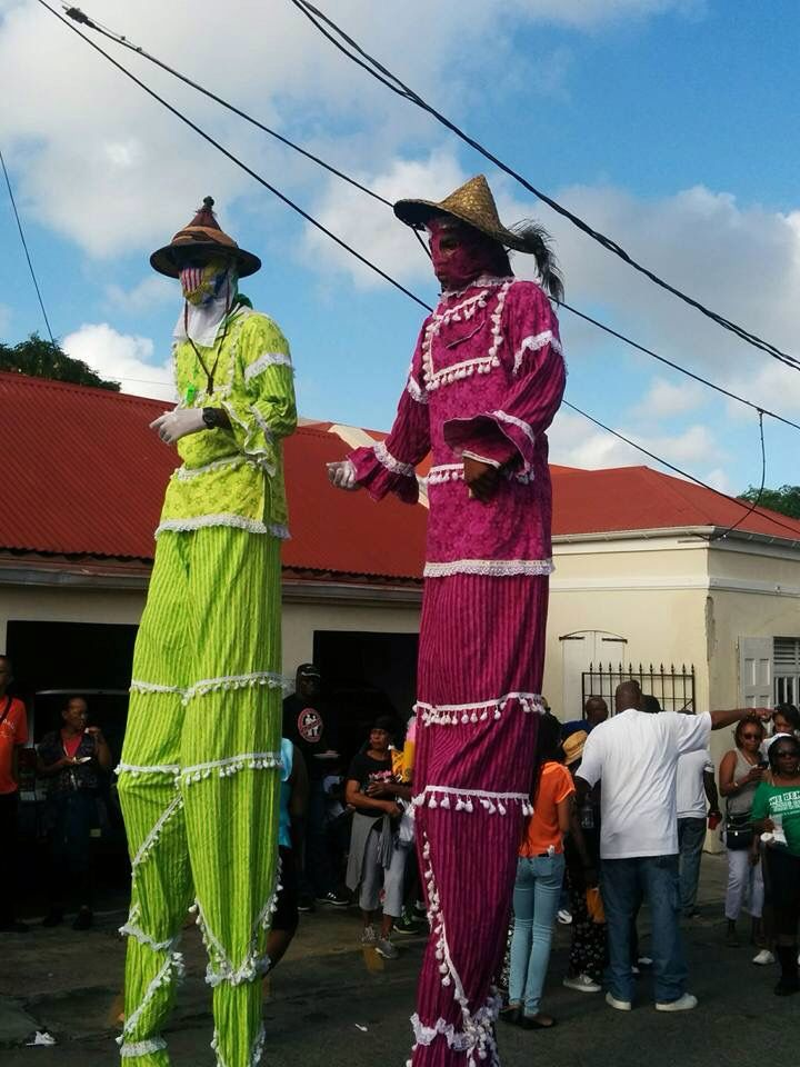 Moko Jumbies! Trinidad and tobago, Stilt costume