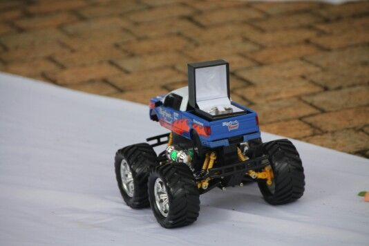 Ring bearer, remote controlled truck
