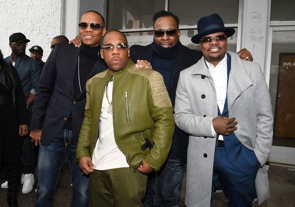 Ronnie DeVoe Photos Photos - (L-R) Members of the band New Edition, Ronnie DeVoe, Michael Bivins, Bobby Brown and Ricky Bell attend their star ceremony on the Hollywood Walk of Fame on January 23, 2017 in Hollywood, California. / AFP / Angela Weiss - New Edition Honored With Star On The Hollywood Walk Of Fame