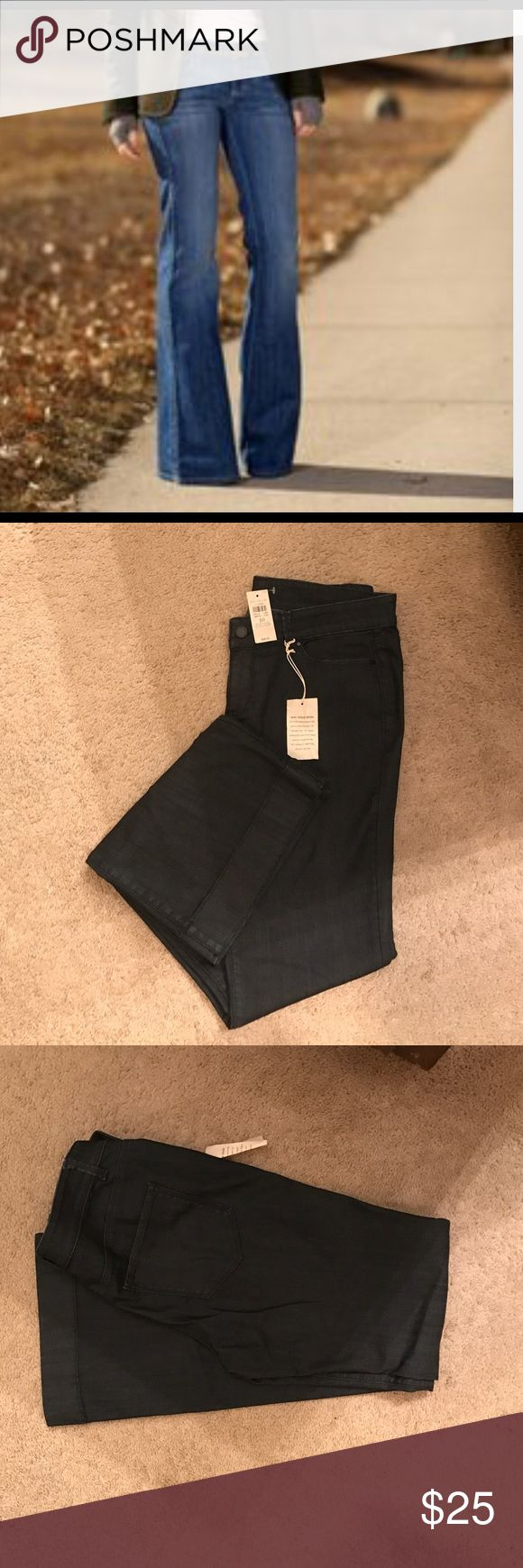 Ann Taylor Jeans Ann Taylor dark wide leg denim jeans.  OK ladies these are absolutely beautiful jeans they are size 10 I should've tried them on before I got them but my loss is your gain I paid $88 for these pair jeans girls. So u get a huge bargain Ann Taylor Jeans Flare & Wide Leg