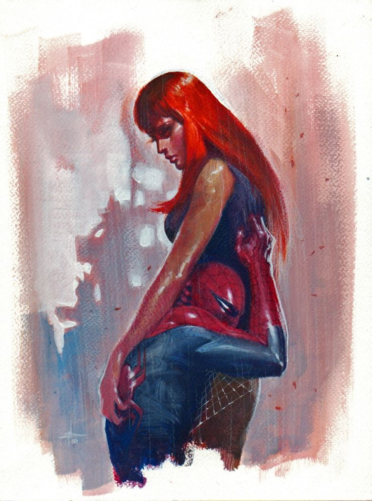 comicbookartwork:  Spider-Man and Mary Jane Watson by Gabriele Dell'Otto