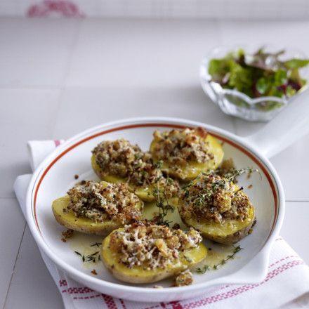 Ofenkartoffeln mit Parmesan-Senf-Kruste Rezept