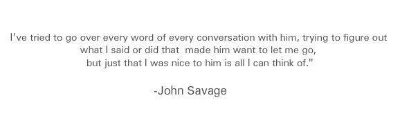 15 years later John Savage still wonder's why Dylan Klebold spared his life.