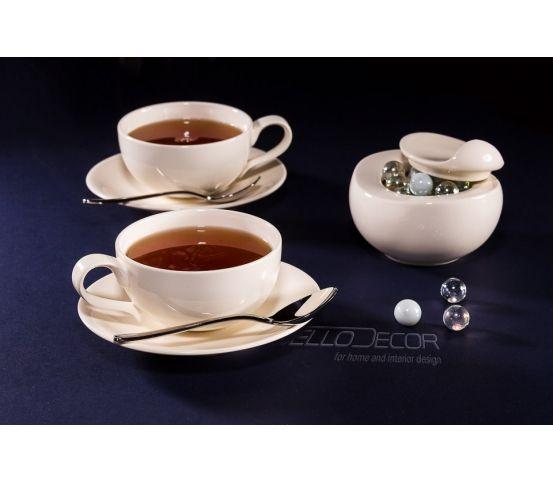 VILLA ITALIA Sense - Zestaw do herbaty filiżanka, herbata, ceramika
