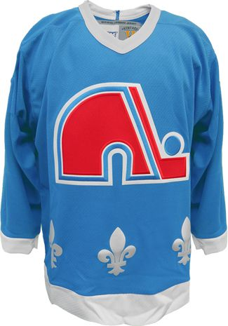 Quebec Nordiques Vintage Replica Powder Blue NHL Hockey Jersey