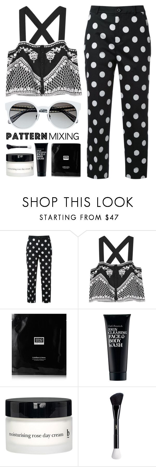 """""""Untitled #579"""" by metalhippieprincess ❤ liked on Polyvore featuring Guild Prime, Exclusive for Intermix, Erno Laszlo, Clark's Botanicals, BBrowBar and Yves Saint Laurent"""