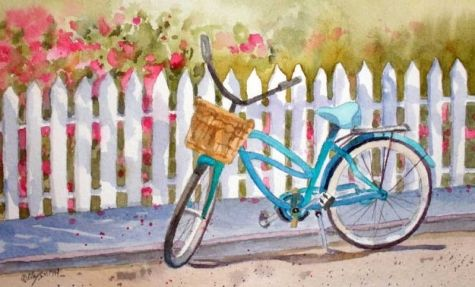 Lazy Daze Bicycle, painting by  Kay Smith