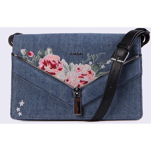 Diesel LE-MISHA Crossbody Bags ($340) ❤ liked on Polyvore featuring bags, handbags, shoulder bags, blue jeans, crossbody bags, women, blue shoulder bag, cross-body handbag, blue handbags and diesel handbags