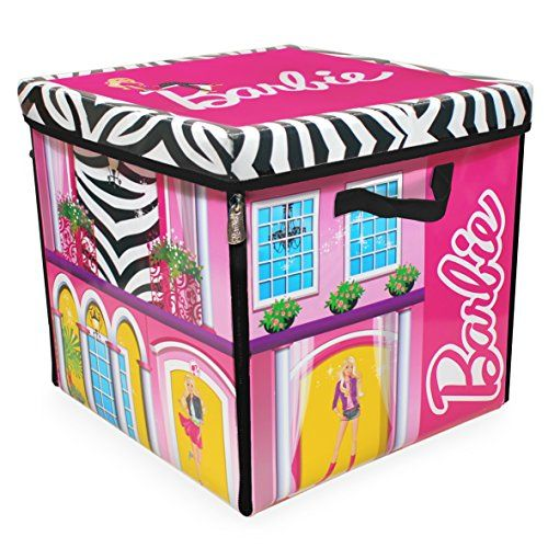 Neat-Oh! Barbie ZipBin 40 Doll Dream House Toy Box & Playmat - great if you're short on space