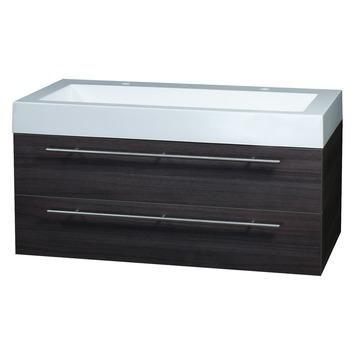 Differnz Force badkamermeubel 100 cm grijs eiken 2 kraangaten kopen? Verfraai je huis & tuin met Badkamermeubelen van KARWEI