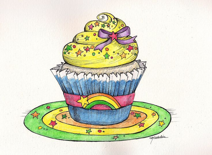 Rainbow brite cupcake | Kupcake Kitchen | Pinterest