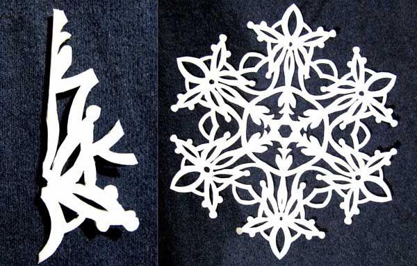 Как вырезать снежинку из бумаги: схема - фото и видео ...