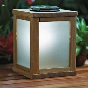 teak lantern