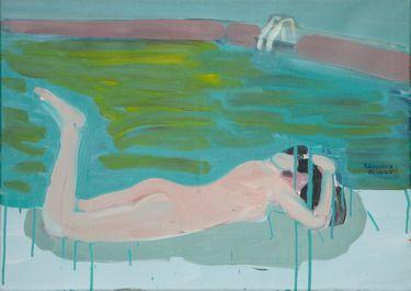 "Saatchi Online Artist Janusz Gałuszka; Painting, ""Spilled the pool"" #art"