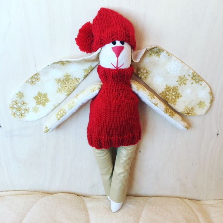Bunny Doll - Rag Doll - Heirloom Doll - Toy for a Kid - Christmas gift by PairOfHappyEars on Etsy