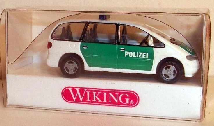 "104 07 27 Wiking Modellauto ""Polizei Ford Galaxy"" TOPZUSTAND in OVP"