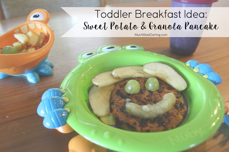 Much.Most.Darling.: Healthy Toddler Breakfast Ideas: Sweet Potato + Granola Pancakes!   Dairy free, gluten free and soy free, and a great way to start the day for anyone in the family!
