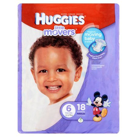 Huggies Little Movers Diapers, Size 6 (Choose Diaper Count)