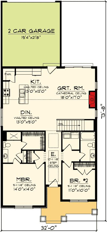 17 best ideas about narrow lot house plans on pinterest for Narrow corner lot house plans