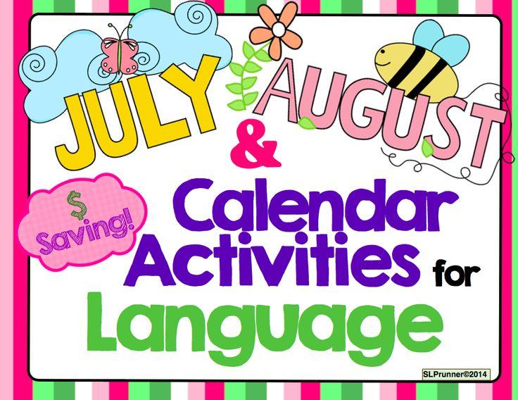 Calendar Activities of Language Bundle and June FREEBIE!