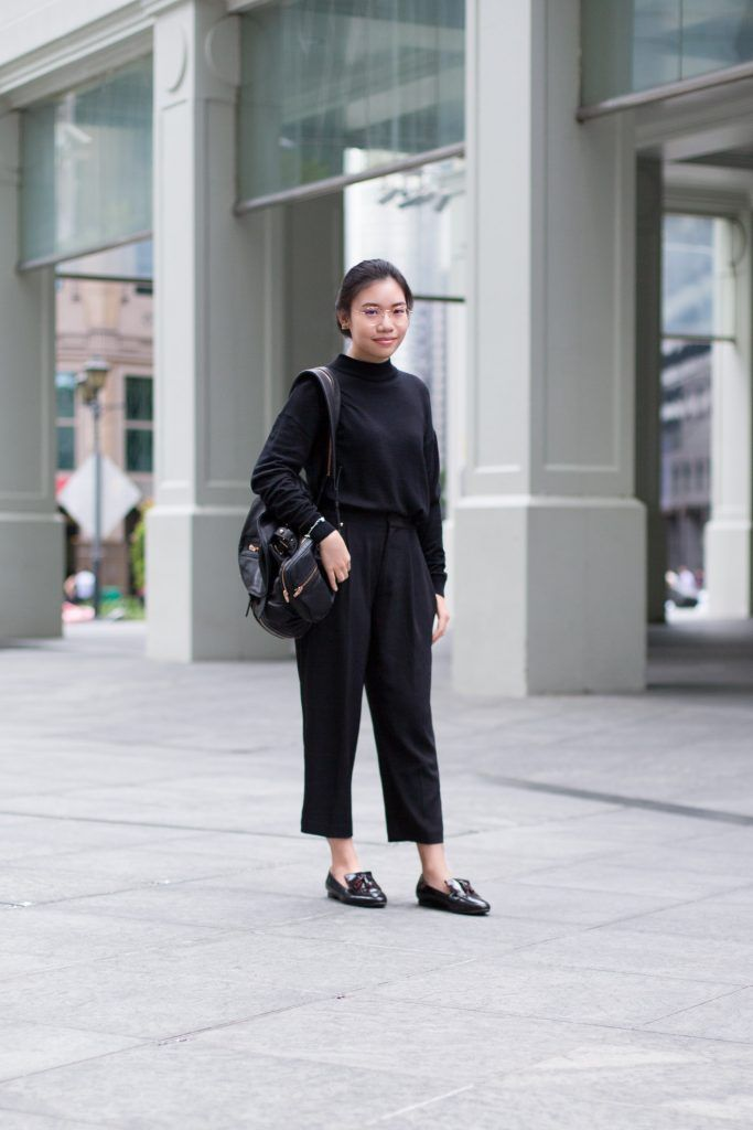 SHENTONISTA: Old Soul. Kristine, Student. Top from Uniqlo, Shoes from Pedder Red, Watch from Carven, Earrings from BIMBA Y LOLA, Glasses from Richard's Atelier. #shentonista #theuniform #singapore #fashion #streetystyle #style #ootd #sgootd #ootdsg #wiwt #popular #people #male #female #womenswear #menswear #sgstyle #cbd #Uniqlo #PedderRed #Carven #BIMBAYLOLA #RichardsAtelier