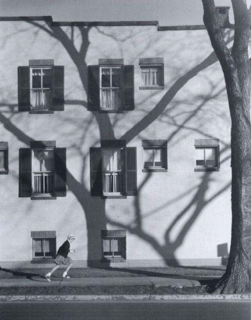 """A. Aubrey Bodine  Girl in a Hurry, 1957"""