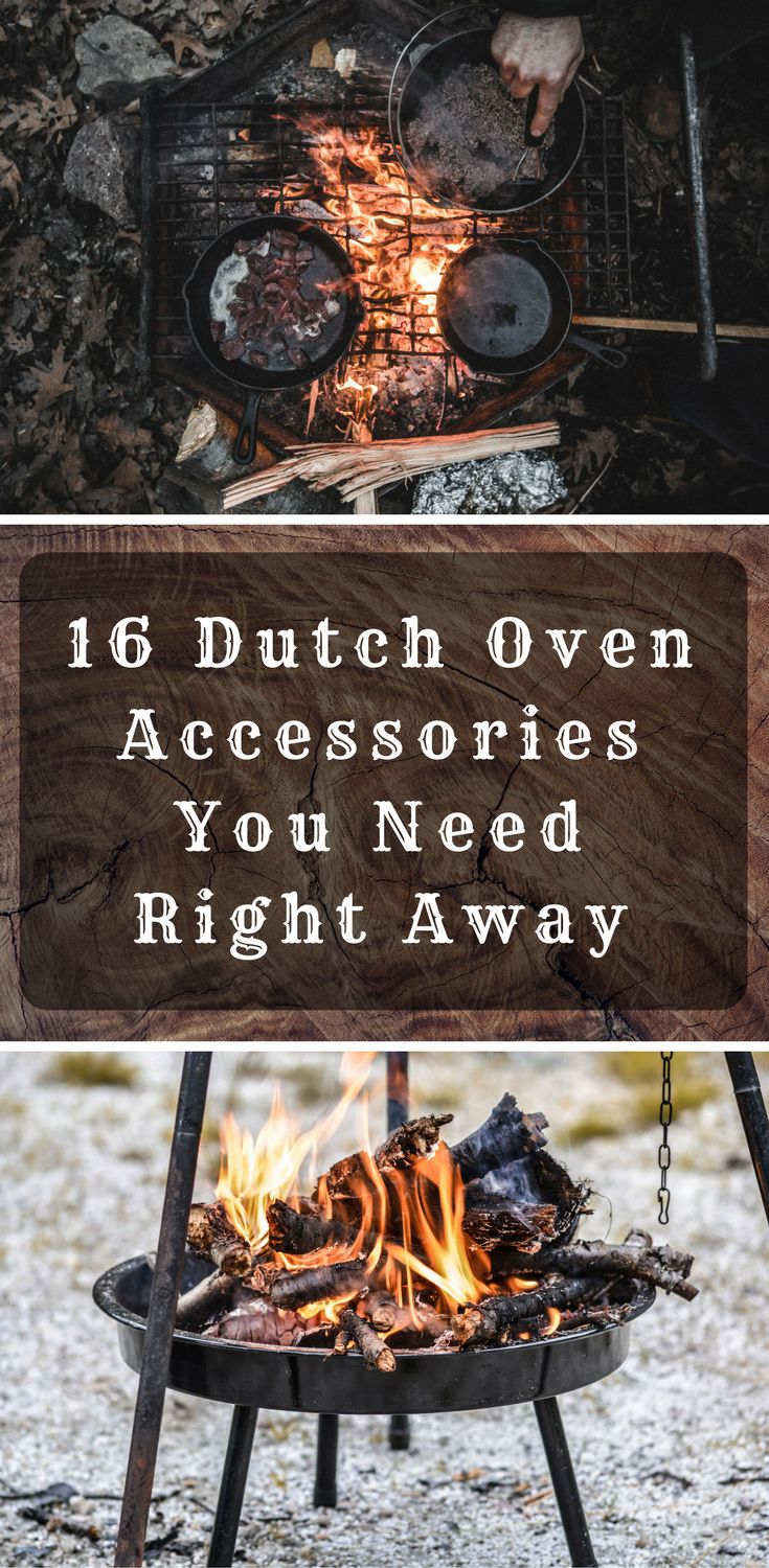 Discover the 16 Dutch Oven Accessories You Need Right Away for a better camping experience.