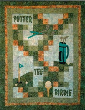 Gone Golfing Quilt Pattern Download by Cottage Quilt Designs, available now at connecthingthreads.com for just $9.00 »