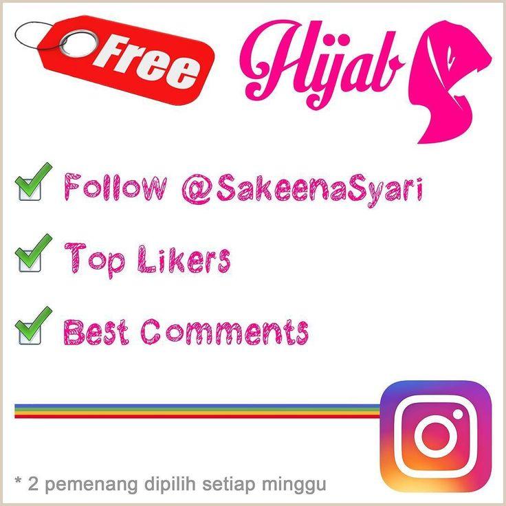 Mau hijab gratis caranya cukup mudah  1. Follow: @SakeenaSyari 2. Spam Likes 3. Spam Comments  Kami akan memilih 2 orang pemenang setiap minggu dengan penilaian top likers & best comments.  Hadiah hijab akan kami tentukan sendiri terima kasih.