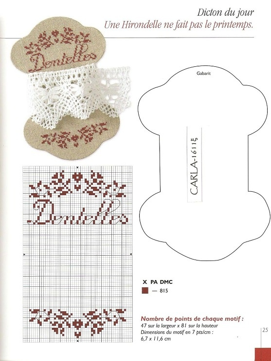 Gallery.ru / Foto # 3 - 956 - Yra3raza dentelles lace cross stitch point de croix