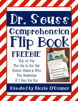 Dr. Seuss Comprehension Flip book!! FREE!!