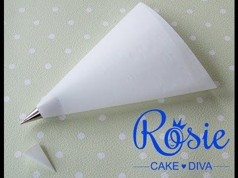 How to Make a Homemade Frosting Piping Bag : Desserts & Baking Tips - YouTube