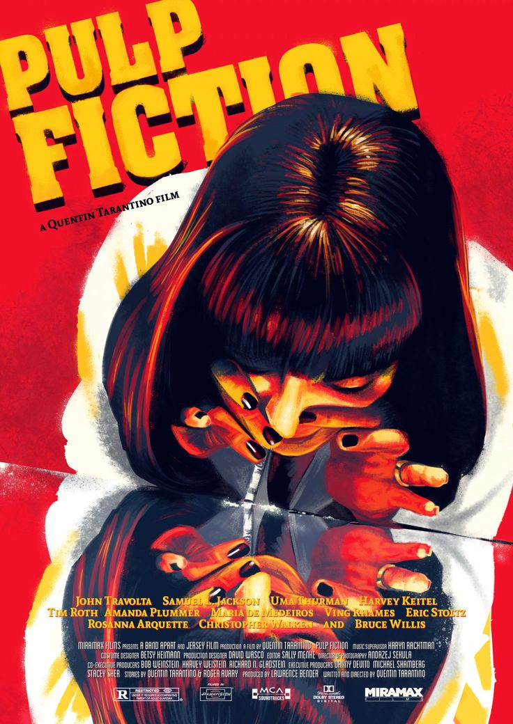 Pulp Fiction - Paul Gates (aka picklevision) ... #Movies #Film #MoviePosters #Posters #MovieArt #Art #Design