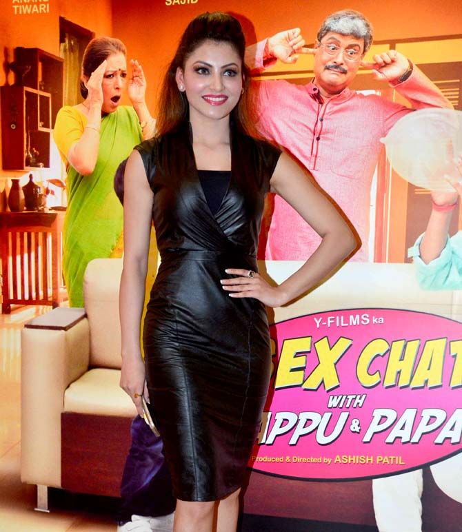 Urvashi Rautela at screening of 'Sex Chat with Pappu & Papa'. #Bollywood #Fashion #Style #Beauty #Hot #Sexy