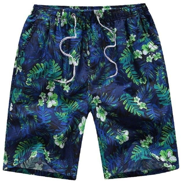 Summer Plus Size Board Shorts Men Printed Camouflage Surf Beach Shorts Male Quick Dry Plaid Loose Shorts K XXL