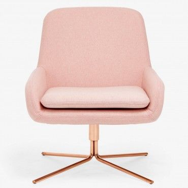 drawing inspiration from mid-century modern styles, architects Busk + Hertzog designed this square shaped, molded seat set on a geometric, swivel base. clad in a pink removable new wool slipcover, softly rounded armrests and back are designed to draw in the body, while a sleek chrome base imparts sophistication. displaying the quintessential qualities of Scandinavian furniture design - softline is clean, classic, and minimalistic. available with a chrome base and in sky blue and many more…