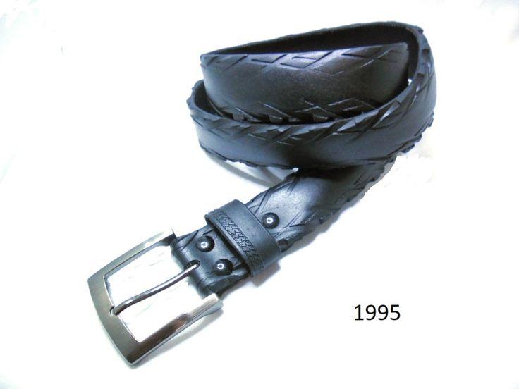 Gürtel - Herrengürtel aus recyceltem Fahrradreifen. - ein Designerstück von re-belt bei DaWanda