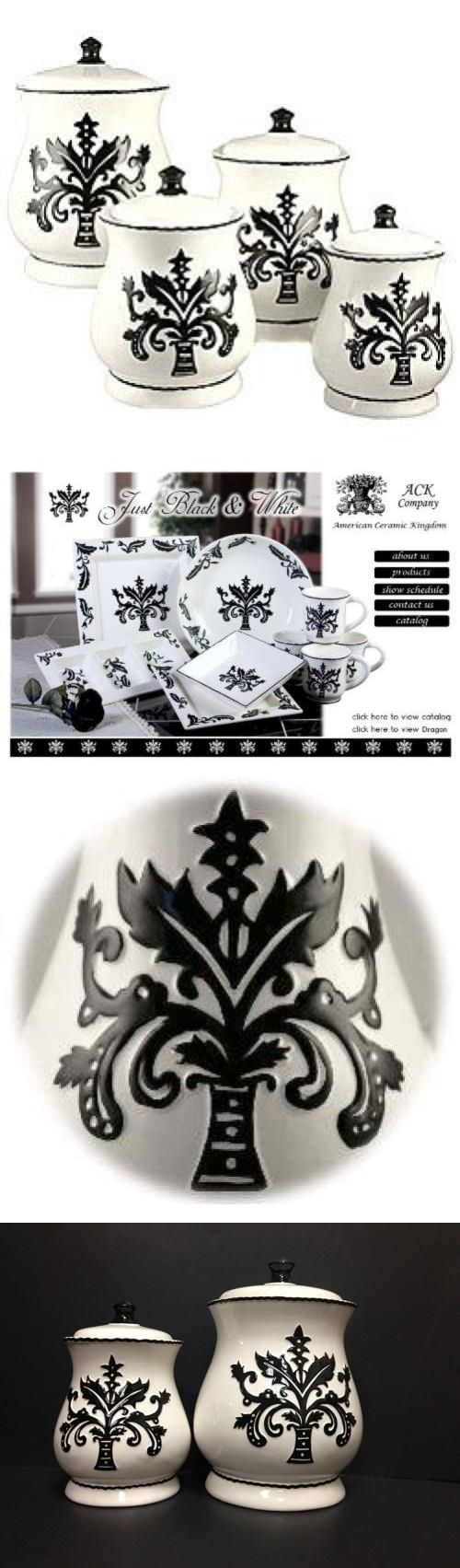 best 25 ceramic canister set ideas on pinterest canisters canisters and jars 20654 tuscany fleur de lis just black and white ceramic 4