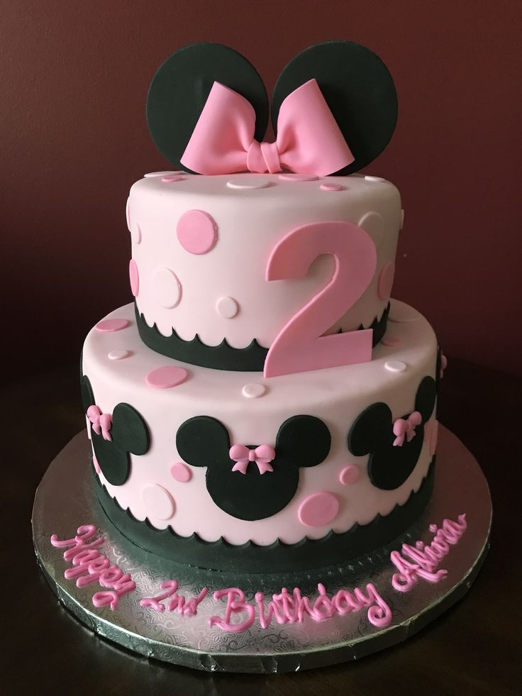 The 25 best Minnie mouse birthday cakes ideas on Pinterest Baby