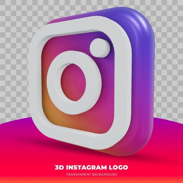 Instagram Logo Isolated In 3d Rendering Instagram Logo Instagram Mockup Instagram Post Template
