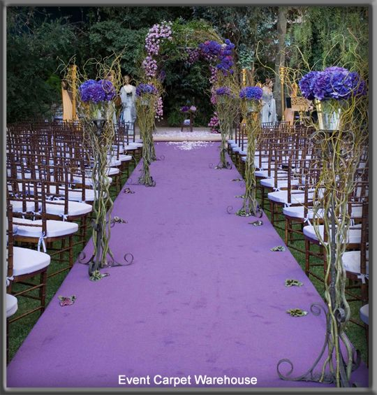 A Purple Aisle Runner Is A Perfect Addition To Any Wedding