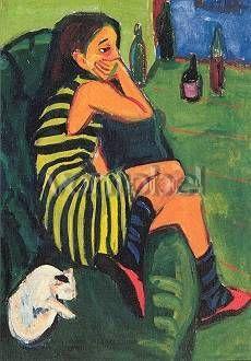 Ernst Ludwig Kirchner, Marcella, 1910, olio su tela, Brücke Museum, Berlino.